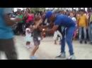 Niño cubano monta Elegua, baila c Muñequitos de Matanzas, Camaguey, Cuba. Santeria.