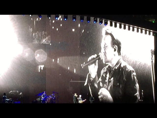 U2 Tribute to Chris Cornell Running To Stand Still Rose Bowl 52017 The Joshua Tree Tour Dedication