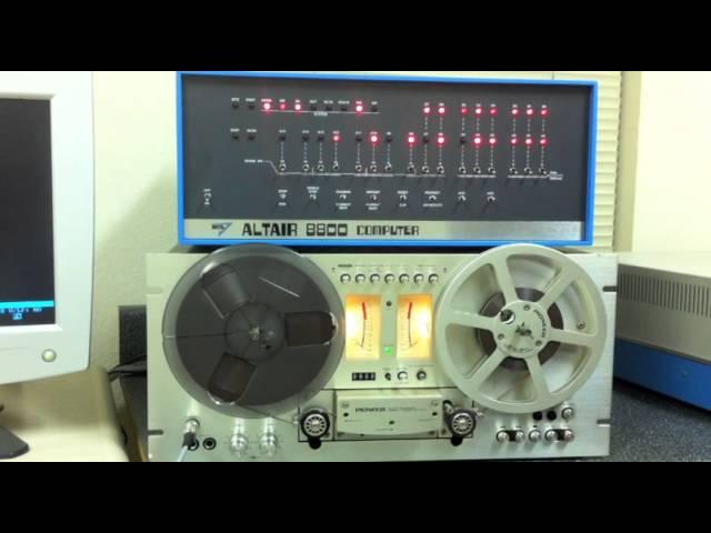 Altair 8800 Loading 8K BASIC the Fun Way