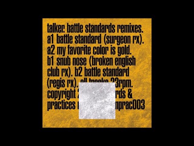 Talker - Battle Standard (Regis Remix) [STANPRAC003]