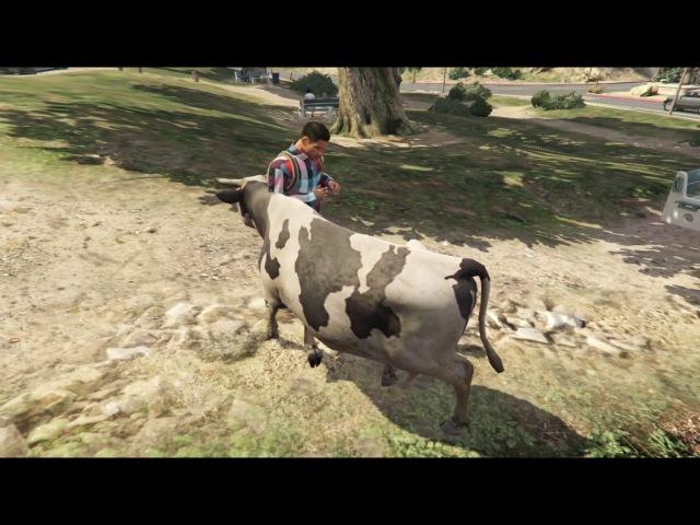 4,5-я Лофофоры (Корова, Пудель) Играем за животных GTA 5