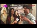 Vidyut Jammwal Adah Sharma talk about Commando 2