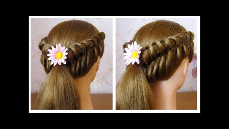 🌺 Coiffure facile à faire soi même pour cheveux mi longlong 🌺 Coiffure tresse originale