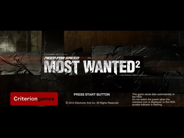 Need for Speed Most Wanted 2 (Unreleased PS3 Jan 2012 Build) Prototype Gameplay