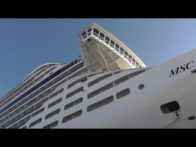 MSC Preziosa in HD 1080p.The ship.