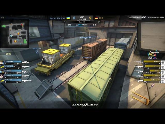 Navi vs BIG. Map 3. de_train | WCA