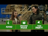 Two Truths and a Loki - Disney Channel Movie Surfers Thor Ragnarok Interview 2017