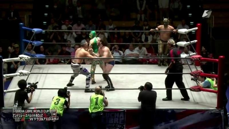 Aero Star, Drago vs. Andrew Everett, DJ Z (AAA - Lucha Libre Victoria World Cup 2017)