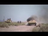 Марш-бросок российских экипажей БМП-2 в пустыне КНР Такла-Макан