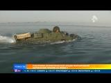 Участники патриотической акции впервые пересекли Керченский пролив на бронемашинах