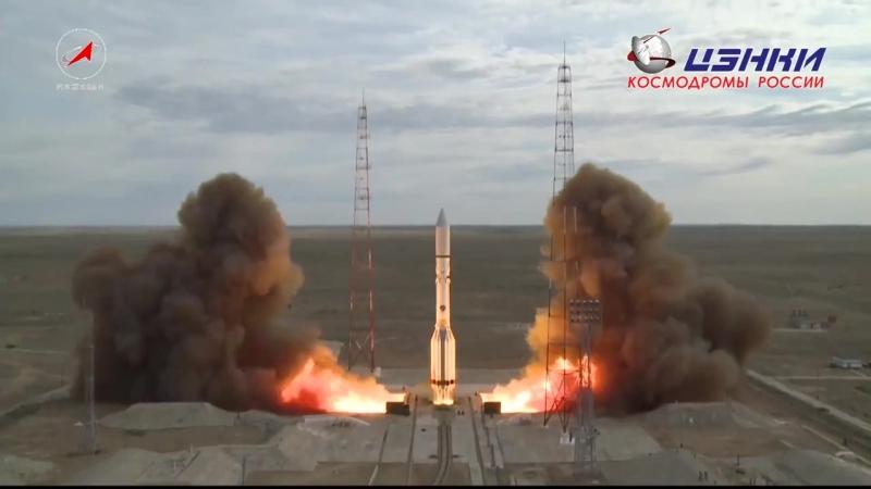 Запуск Протон М со спутником связи EchoStar 21 06 08 2017