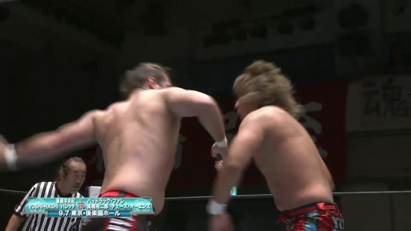 Hirooki Goto, YOSHI-HASHI, Barreta vs. Bad Luck Fale, Yujiro Takahashi, Chase Owens (NJPW - Road to DESTRUCTION 2017)