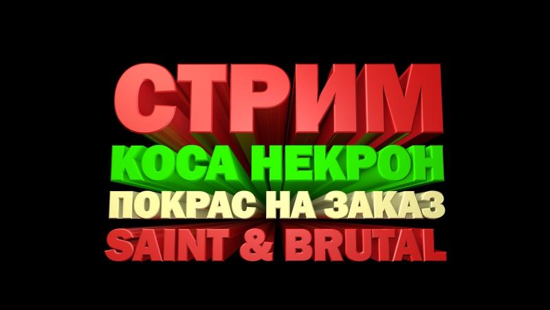 Тестим канал Youtube Красим Косу Некрон Вечерний Стрим Saint Brutal 6