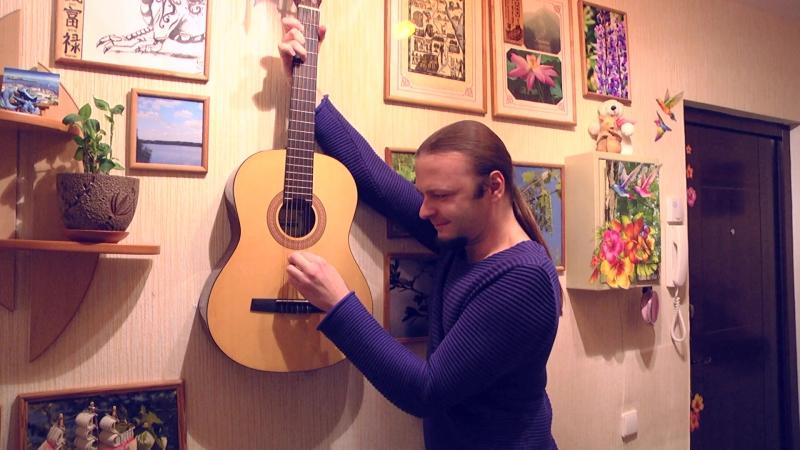 Михаил Бугаев - праворукая гитара на стене