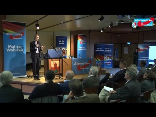 Super Vortrag! Wirtschaft %26 Soziales Vortrag beim KV FürthNeustadt Aisch AFD