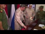 Вручение генералу ВС САР наградного оружия от Министра обороны РФ