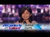 Celine Tam Adorable 9-Year-Old Earns Golden Buzzer From Laverne Cox - America's Got Talent 2017