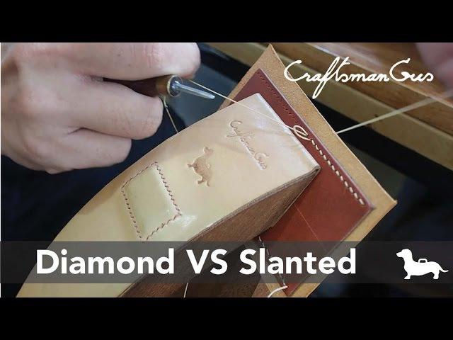 Diamond VS Slanted Pricking Iron ส้อมเฉียงกับส้อมไดมอนด์ LeatherAddict EP 02