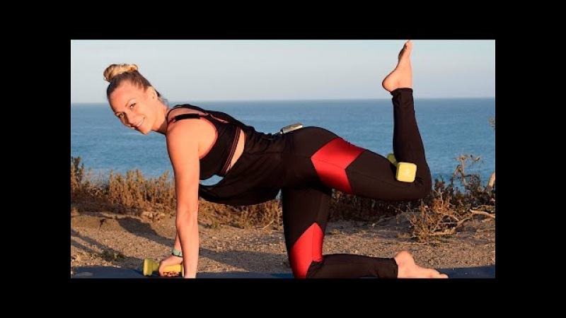 Tone Torch Tighten Full Body Yoga Workout with Dumbbells 14 min - Day 20