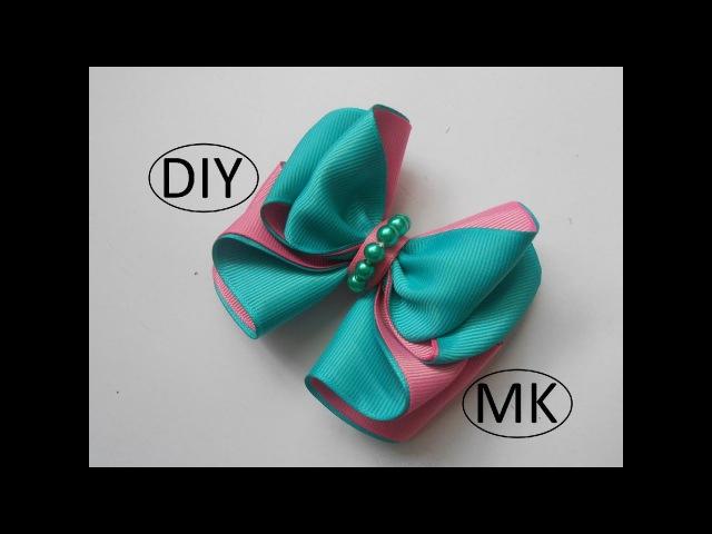 Бант из репсовой ленты МК/ Bow grosgrain ribbon DIY/ PAP Arco fita do grosgrain Tutorial83