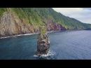 4K Ultra HD 絶景空撮:伊豆大島ジオパーク 海岸景観 TOKYO Izu Oshima Geo park Coastal landscape