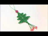 Macrame craft tutorial: The christmas tree key chain