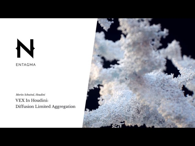 VEX in Houdini: Diffusion Limited Aggregation (Plus Rendering In Mantra Redshift)