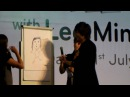Lee Min Ho 이민호 draws a picture of her ideal girl | SUPERADRIANME