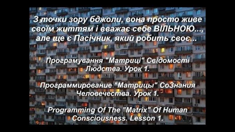 Аз ПА РИк 8 0104 .Програмування Матриці Свідомості Людства. Урок 1.