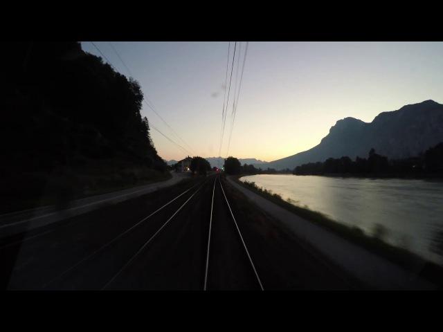 4k Führerstandsmitfahrt: In den Sonnenaufgang von Kufstein nach München Hbf
