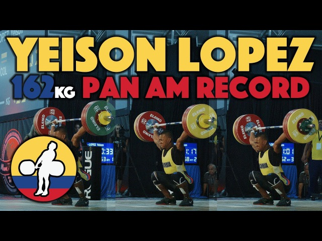 Yeison Lopez (77) - 153, 158 162kg Snatches @ 2017 Pan Ams (Junior/Senior Pan Am record) [4k60]