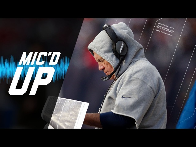 Bill Belichick Micd Up vs. Dolphins Watching Gronkowski Celebrate | NFL Sound FX