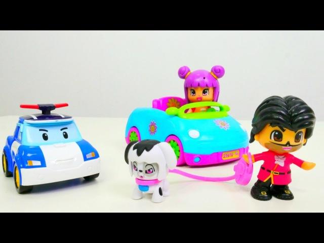 Pinypon oyuncakları - kızoyunları. Hırsız köpeği kaçırıyor - Kardelen ile kurtarma operasyonu!