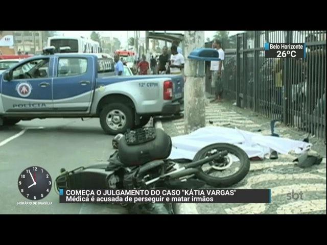 Médica acusada de perseguir e matar dois irmãos vai a julgamento | SBT Brasil (05/12/17)