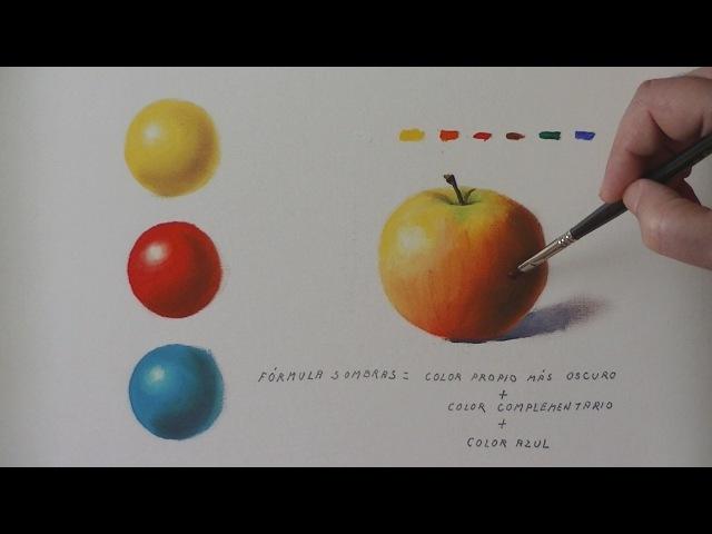 Color - Como se aclaran y oscurecen los colores al óleo - el color de las sombras.- nº 10