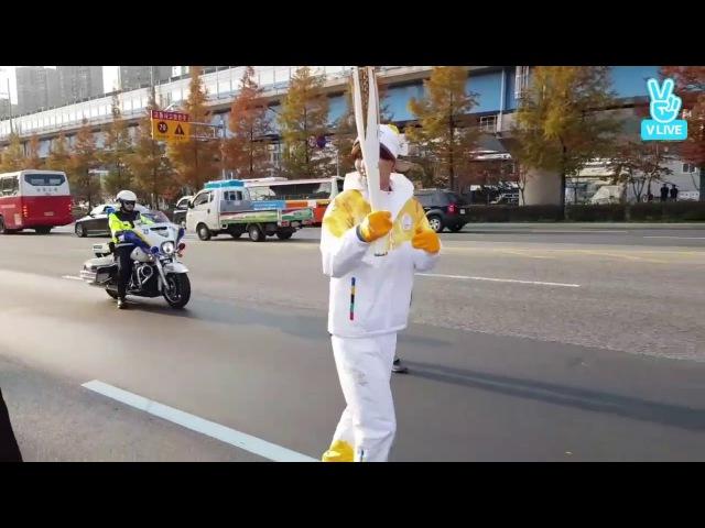 [V LIVE] 171114 (CROSS GENE) OLYMPIC TORCH RELAY -TAKUYA- (2)