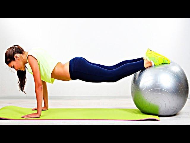 Упражнения для грудных мышц и рук Занятия на фитболе