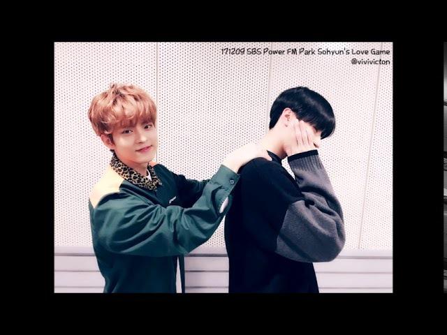171209 SBS Power FM Park Sohyun's Love Game w/ VICTON Seungwoo, Subin