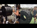 Sage Northcutt stretch training and playing with this 600lb tire Training World