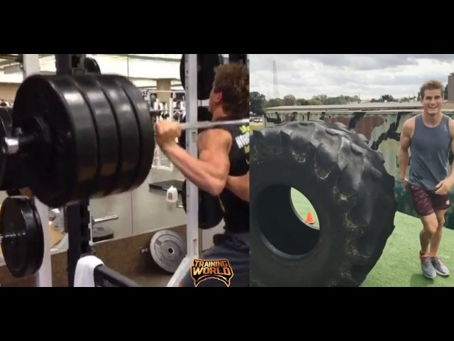 Sage Northcutt stretch training and playing with this 600lb tire | Training World