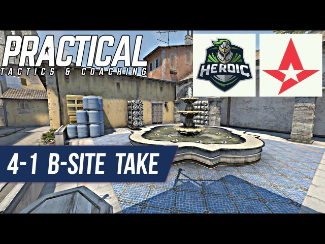 CS:GO Tactic -- Heroic vs Astralis -- De_inferno 4-1 B-site Take