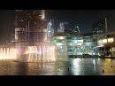 Путешествие в Дубай видео 4K фонтана в Дубай Dubai Mall The Dubai Fountain и небоскреб Burj Khalifa