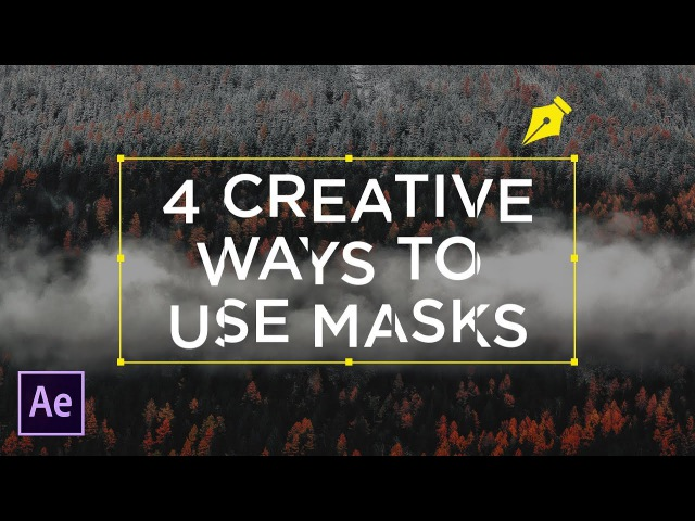 4 Creative Ways To Use Masks For Text | After Effects Tutorial