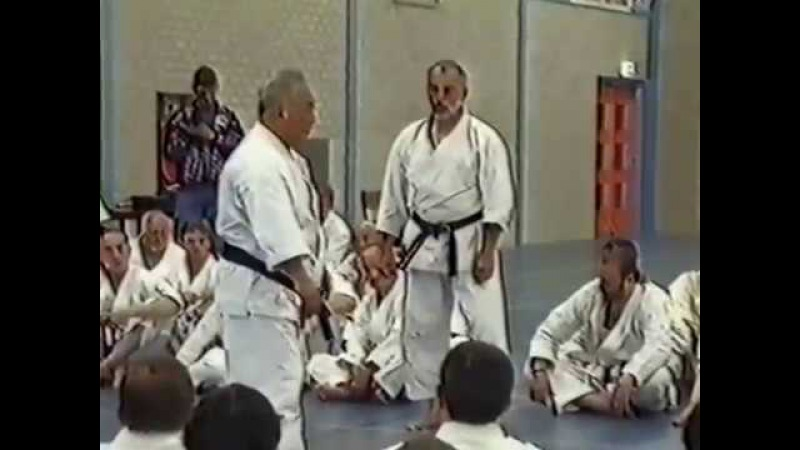 Sensei Taiji Kase and Shirai