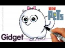 How to Draw Gidget step by step Easy - The Secret Life of Pets
