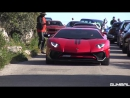 Supercars Accelerating LOUD Aventador LP750 4 Huracan