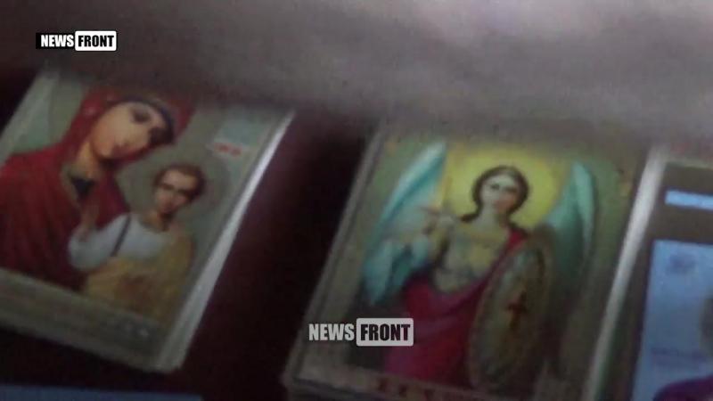 Жители оккупированного Киевом Святогорска передали иконы для защитников ДНР