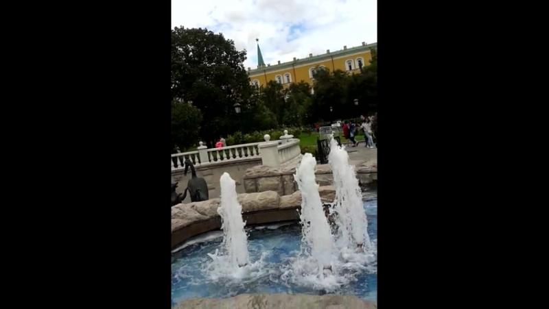 Фонтаны Александровского сада.