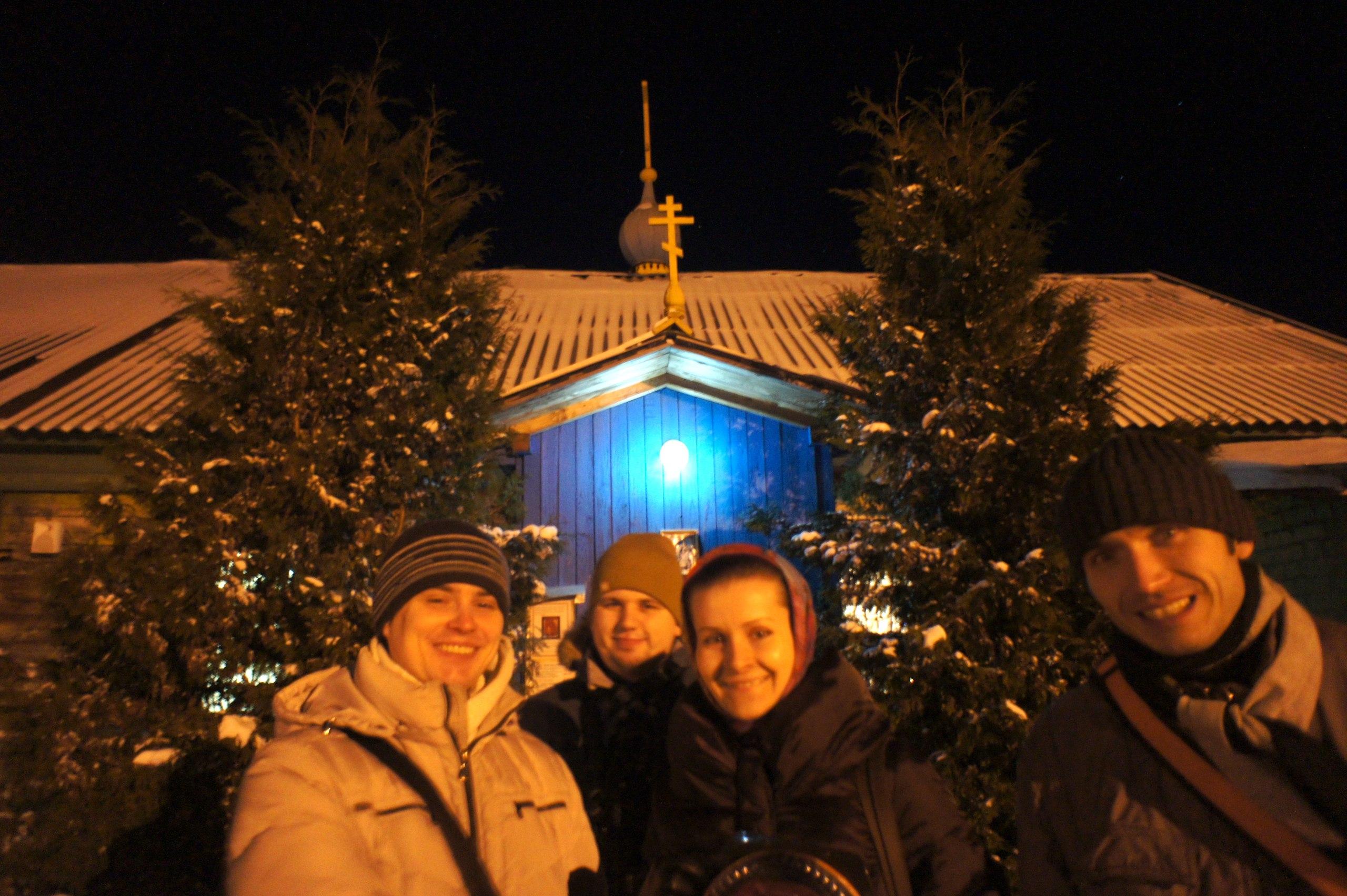 Ночная рождественская служба в Черногубово