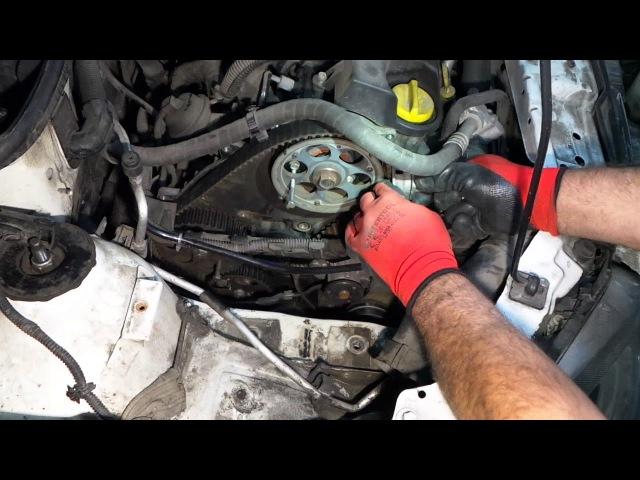 Opel Combo Astra Corsa Zafira Meriva 1 7 CDTI Замена ремня ГРМ Replacing the belt